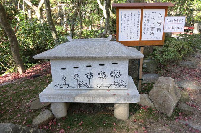境内をめぐる参道添いに並ぶ小さな石の仏様達