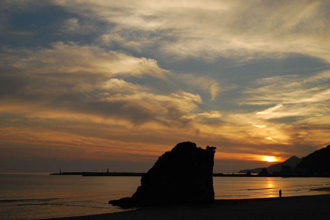絶景の夕陽が美しい、国引き・国譲りの神話の舞台