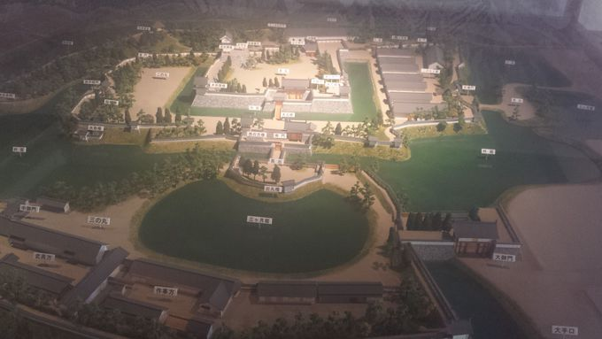 蘇った松代城のジオラマ