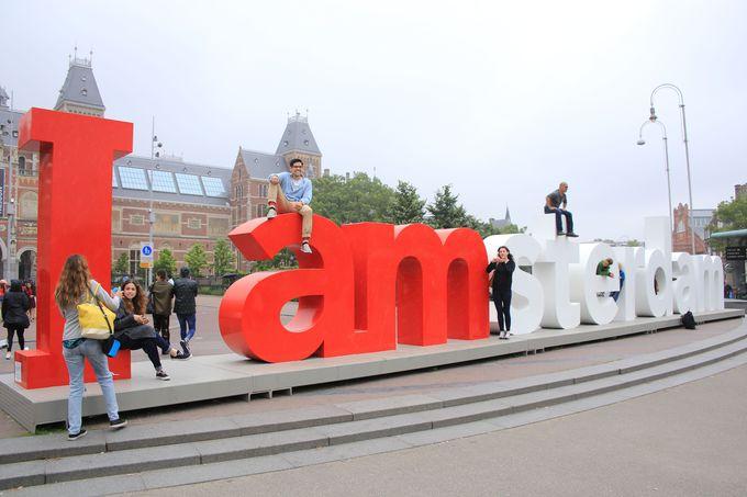 アムステルダムの名物記念撮影スポット
