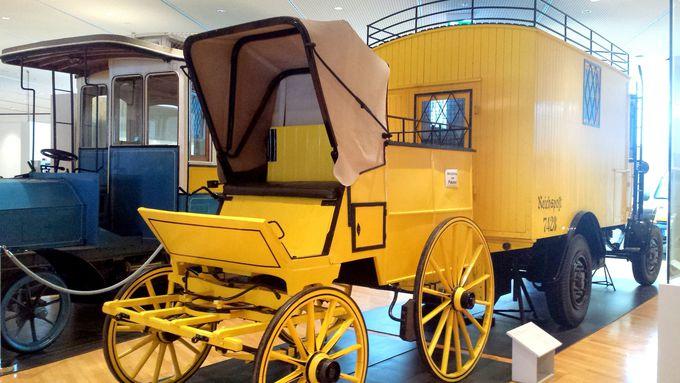 おもちゃのような郵便馬車
