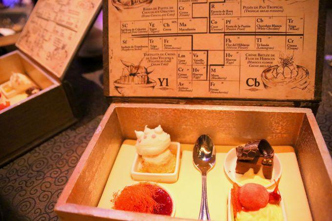 運ばれてきた料理には鍵穴が。見て食べて楽しめるコース