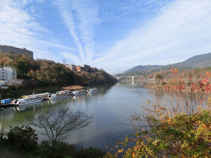 まずは「さざなみ公園」から大井ダムを眺めてみよう