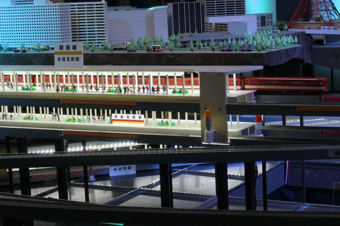 再現度が高い!模型電車が駆け抜ける「メトロパノラマ」
