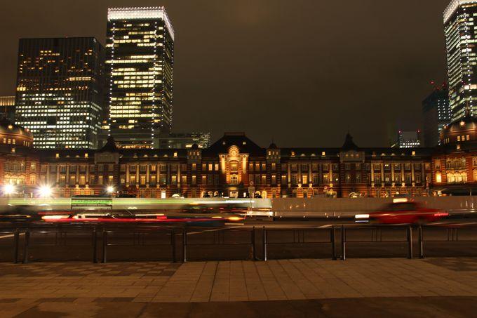 丸の内イルミネーションの最後は美しい東京駅で