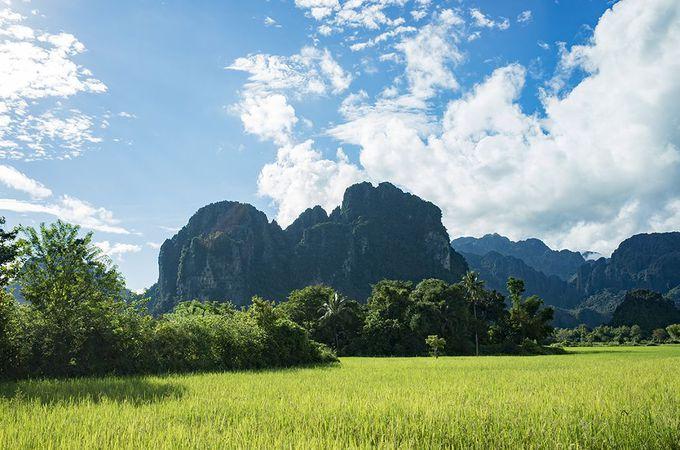 山と川に囲まれた自然たっぷりの景観でまずはリラックス
