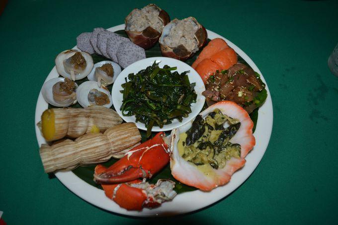 パラオの主食の芋&マングローブ貝