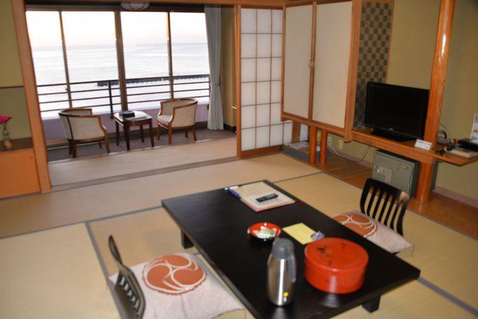 全室オーシャンビュー!駿河湾の景色が堪能できる客室!