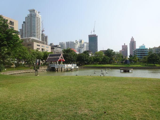 都会に広がる大公園ベンチャシリ公園がすぐそばに