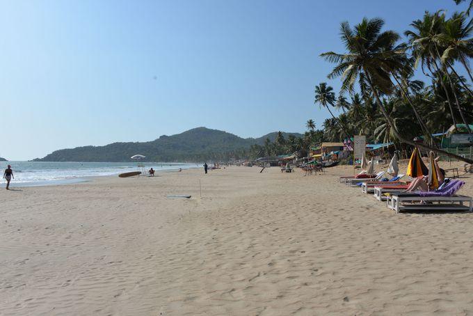ゴアで最も美しいビーチと称される南ゴアのパロレムビーチ