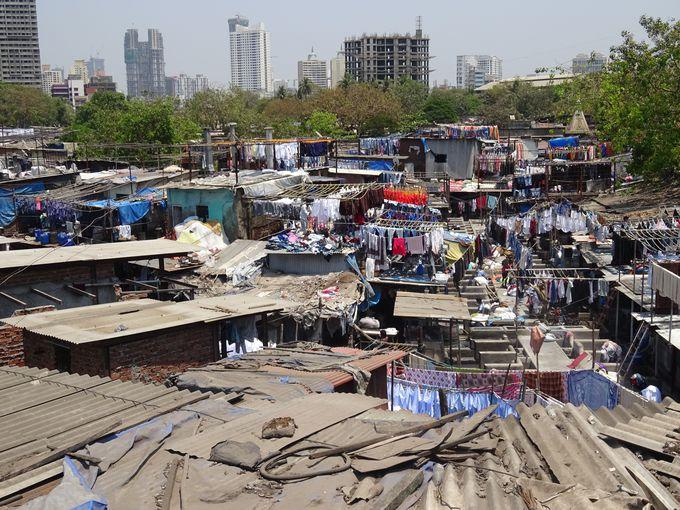 ムンバイ最大の屋外洗濯場!ドービーガート