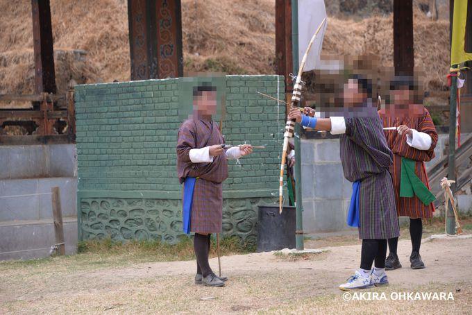 ブータンの国技弓道を見学!チャンリミタン競技場横にある射場