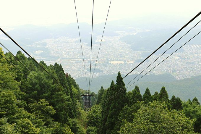 京都側からアクセス2:叡山ロープウェイ
