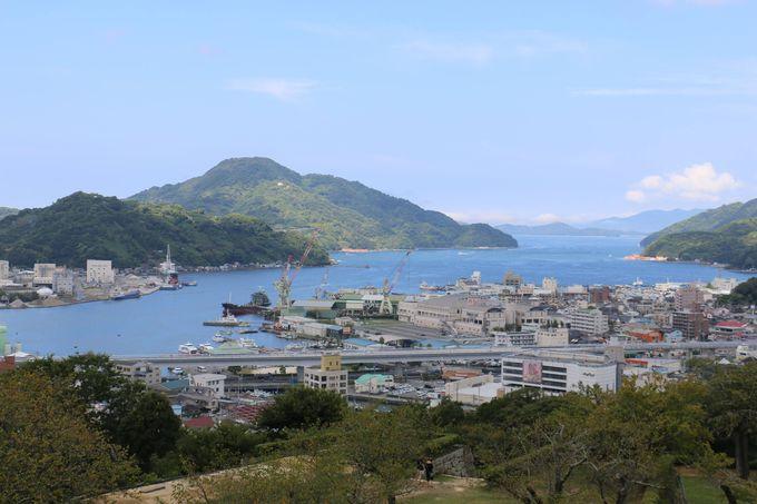 縄張り不等辺五角形の宇和島城