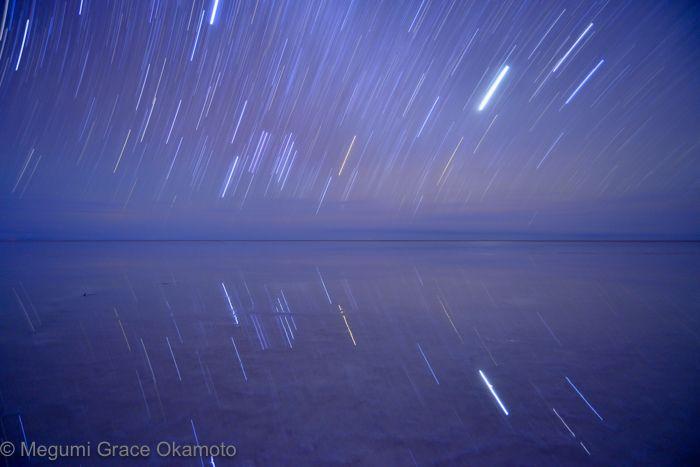 長時間露光で、星の軌跡を捉える