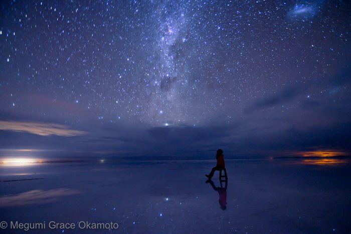 マニュアルモードで撮る、銀河に浮かぶシルエット