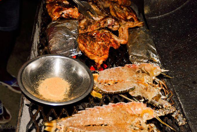 ロブスターや新鮮な魚を!魅力的なシーフード