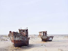 儚き美がある!ウズベク「船の墓場」で消えゆくアラル海を思う