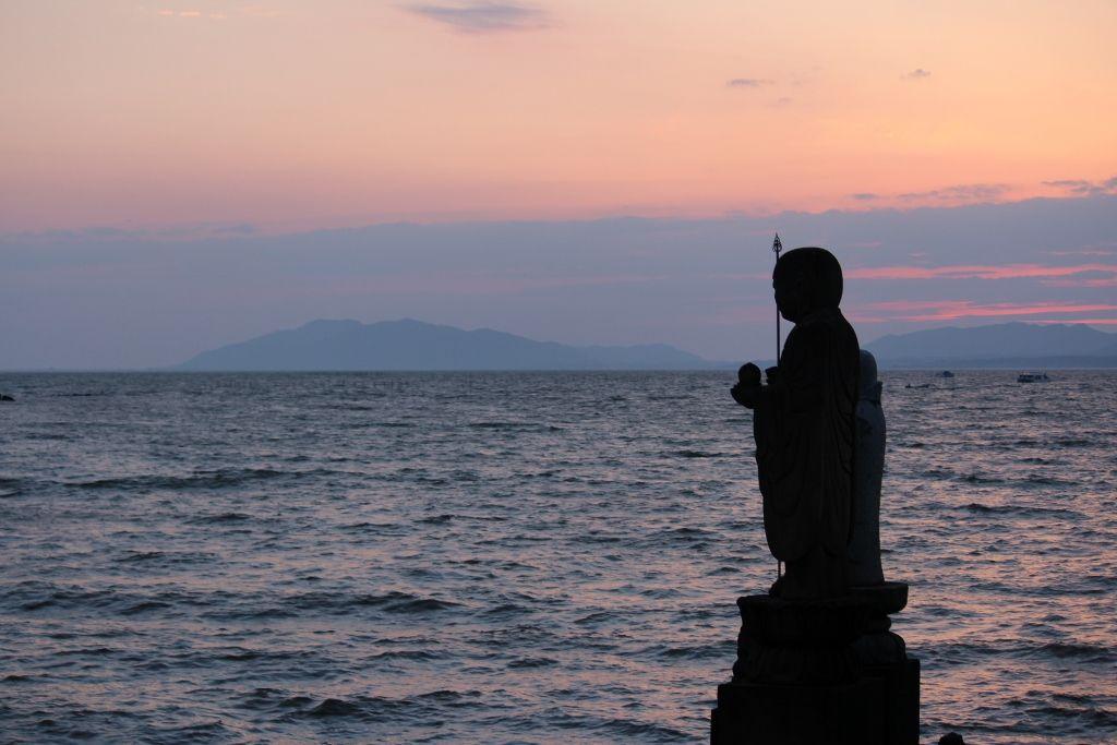 島根県立美術館から眺める日本の夕陽百選「宍道湖」