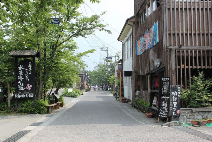 阿蘇神社の神様が身代わりになった門前町『水基巡りの道』