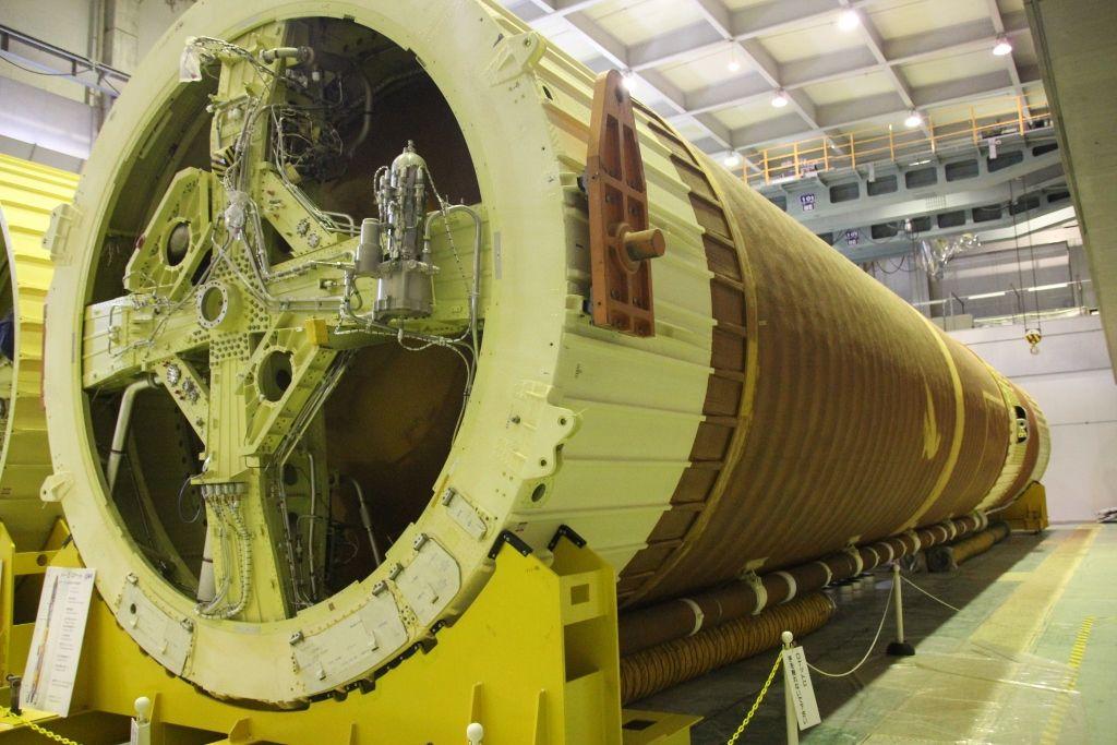 H2ロケットの実物が展示されている「大崎第一事務所」