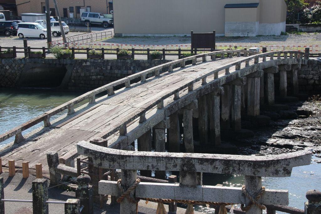 天草の乱で激戦地となった町山口川に架かる祗園橋