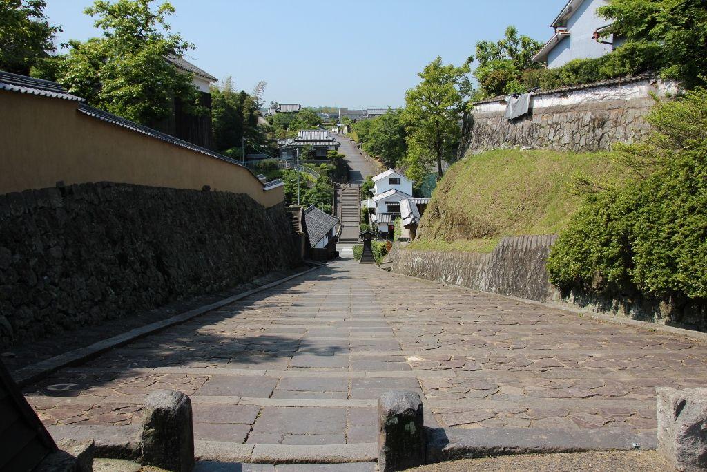 ユニークな名前の坂が多い杵築城下町