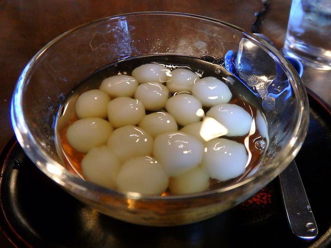 古民家の甘味処「銀水」のかんざらし