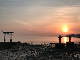 厳島神社?と思いきや熊本県!海に浮かぶ鳥居の「永尾神社」