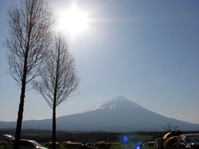 富士山の麓に絶景キャンプ場あり!