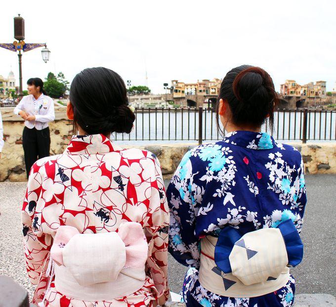 東京ディズニーリゾートで浴衣女子、増えてます!