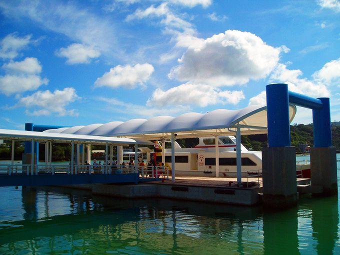 水納島の絶景ビーチへは「ニューウィングみんな」で!