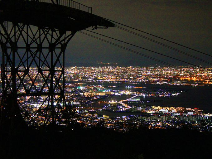 六甲山から見下ろす1000万ドルの夜景