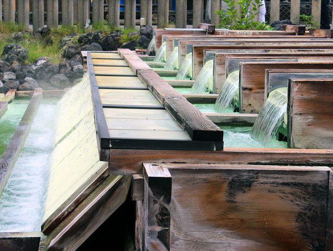 草津温泉のシンボル湯畑と草津温泉街ぶらぶら散策観光