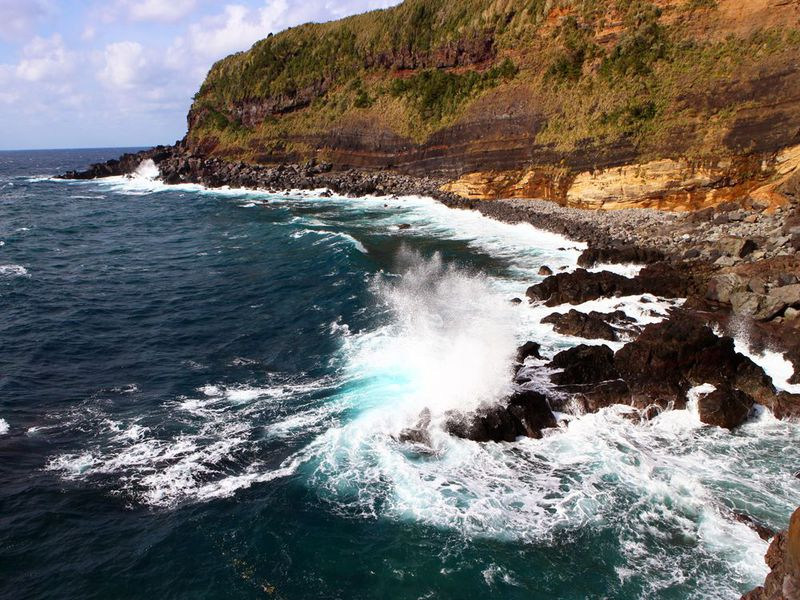 八丈島の温泉3&4 中之郷温泉やすらぎの湯と足湯きらめき