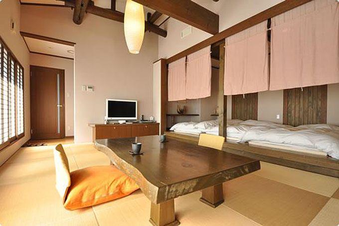 赤城温泉ホテル別館あづまやのメゾネットには温泉のお風呂も!