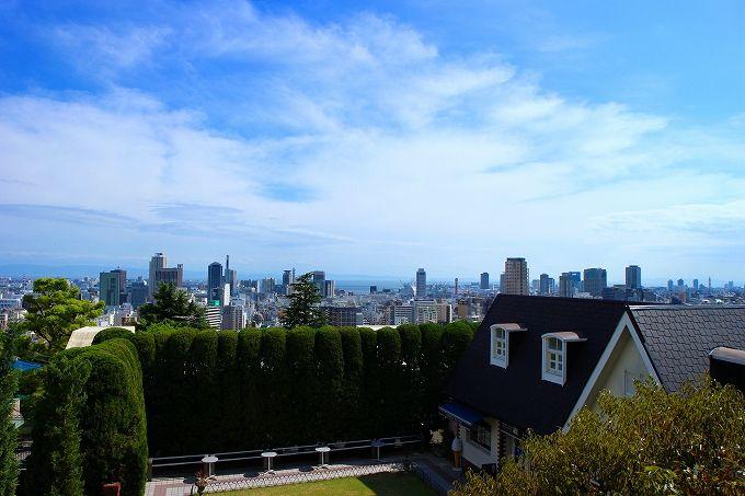 神戸の街を一望する眺望