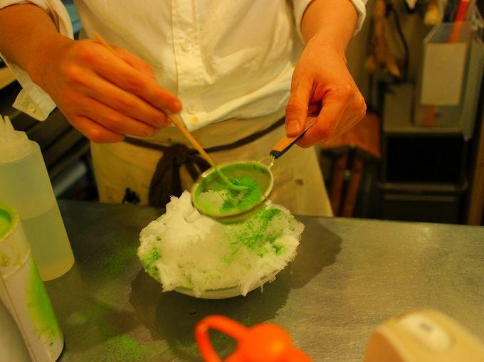 抹茶専門店ならではの絶品抹茶かき氷!