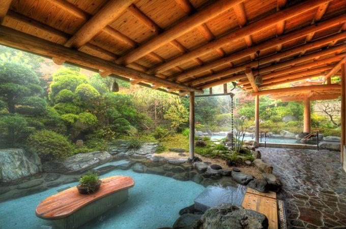 吉池旅館の庭園散策と、ステーキハウス吉池の食事で日帰り温泉を割引に