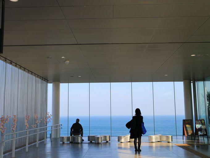 海に浮かぶガラス箱のような日立駅&シーバーズカフェ