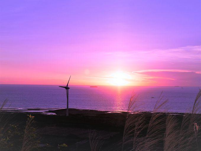 絶景!「好望角」の風車と夕日
