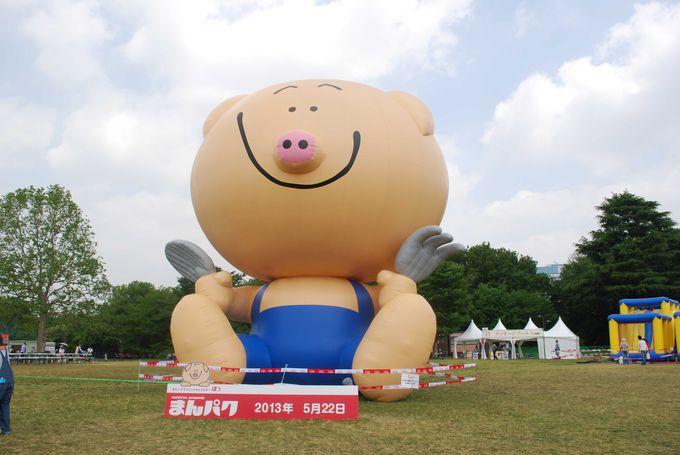 巨大「ぽぅくん」バルーンが出現!!可愛さと美味しさ爆発のフードフェス『まんパク』を満喫!!