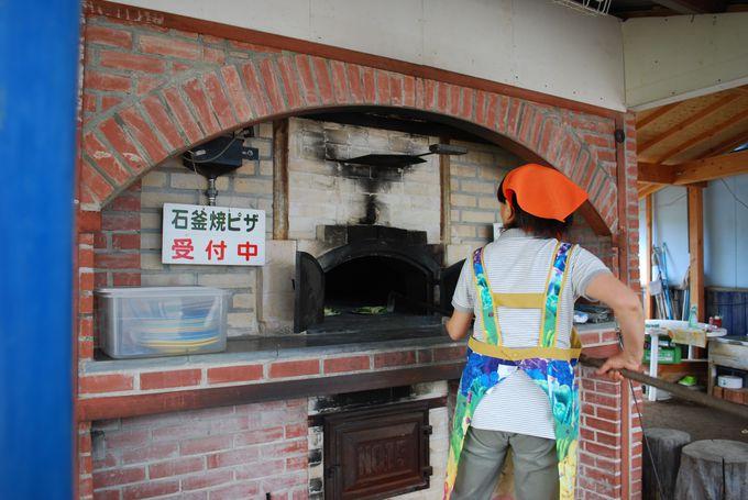 石窯焼きピザや、ほうとうを手作り体験できる!!
