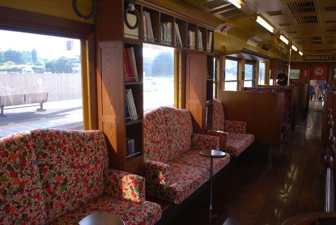 ユニークなデザインの座席はどの席も魅力的!!