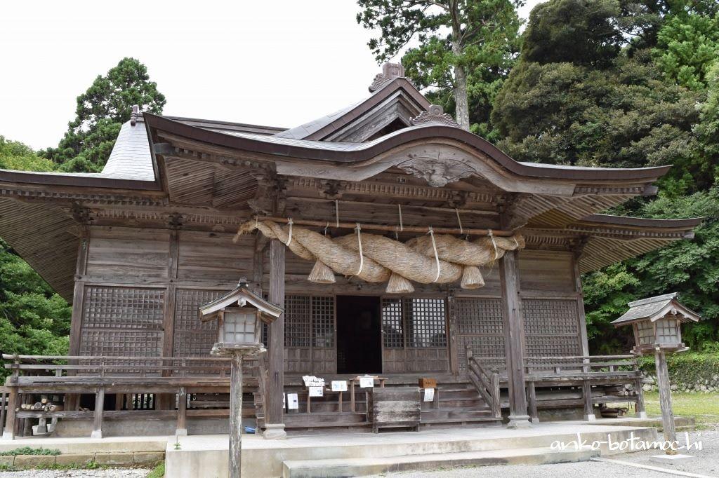 隠岐造りの本殿など国指定重要文化財の「玉若酢命神社」