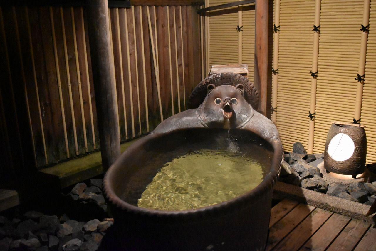 たぬきだらけすぎるお風呂がスゴイ!!