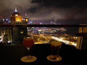 迫力のある夜景が魅力!香港島の絶景ルーフトップバー3選