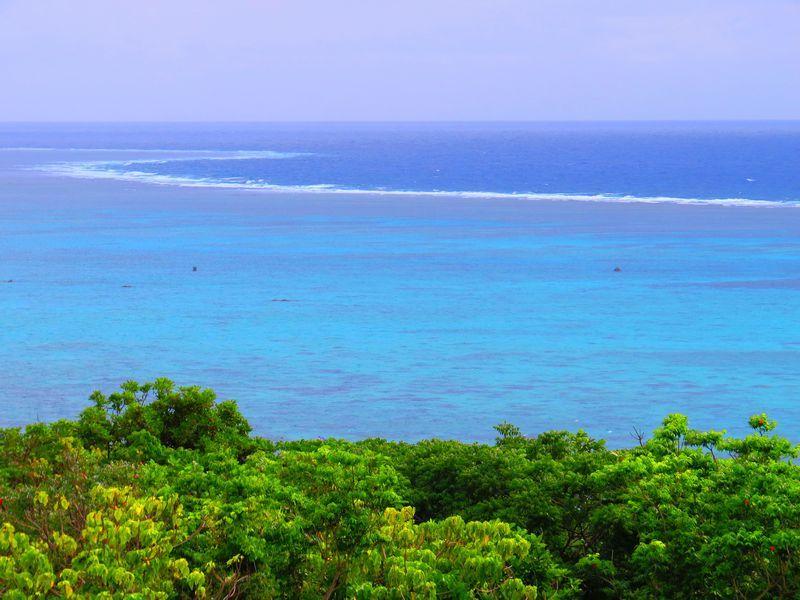 玉取崎展望台からの青と緑