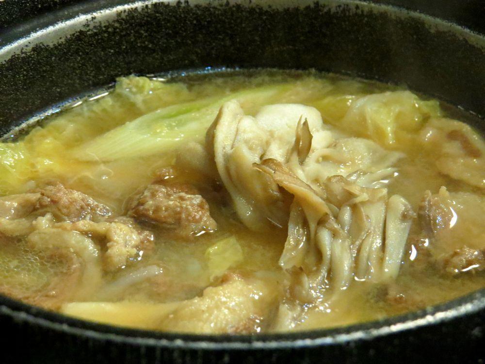 「奥の湯 森吉山荘」で熊鍋を食す