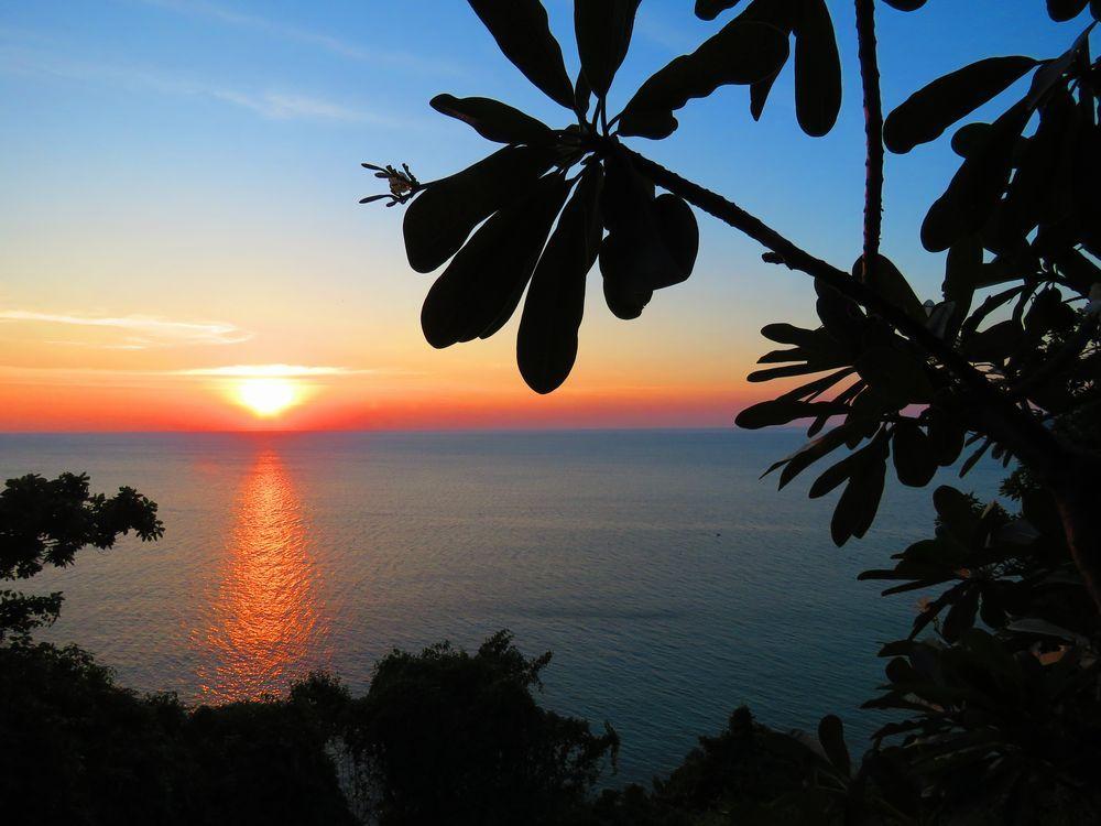 夕陽のポイント